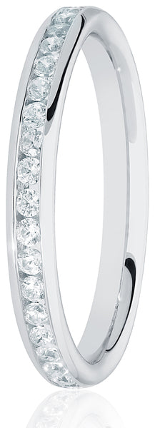 2.2mm Wide Round Brilliant Cut Channel Set Diamond Ring