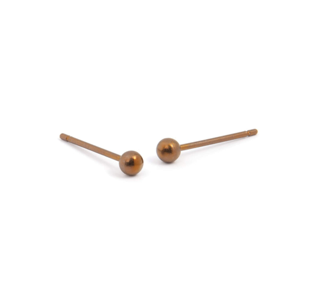 Titanium 3mm Ball Stud Earrings