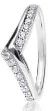 Load image into Gallery viewer, Wishbone Claw Set Round Brilliant Cut Diamond Ring