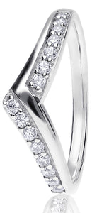 Wishbone Claw Set Round Brilliant Cut Diamond Ring