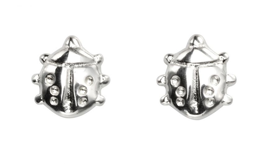 Sterling Silver Ladybird Studs