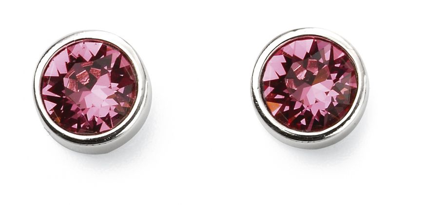 Sterling Silver October Birthstone Stud Earrings