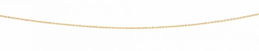 9ct Yellow Gold Cable Oval Diamond Cut Chain