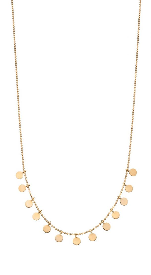 9ct Yellow Gold Disc Necklace