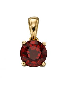 9ct Gold January Birthstone Garnet Pendant