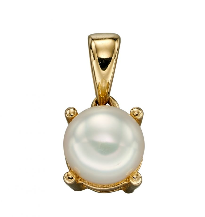 9ct Gold June Birthstone Pendant Pearl