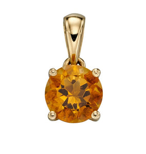 9ct Gold November Birthstone Pendant Citrine