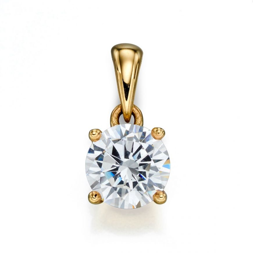 9ct Gold April Birthstone Pendant CZ