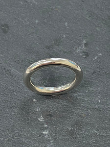 Handmade by James Bishop Sterling Silver Halo Ring