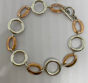 Sterling Silver & Copper Bracelet
