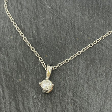 Load image into Gallery viewer, White Gold Single Stone Diamond Pendant 0.25ct