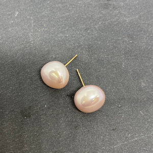 9ct Yellow Gold Fresh Water Pearl Studs