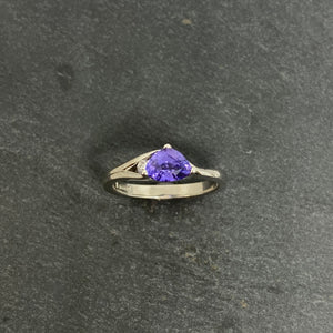 Handmade Sapphire And Diamond Ring In Platinum