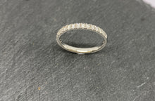 Load image into Gallery viewer, 18ct White Gold Diamond Claw Set Eternity Ring