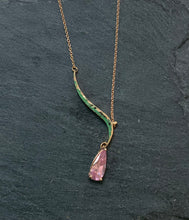 Load image into Gallery viewer, Rose Gold And Pink Sapphire Necklace