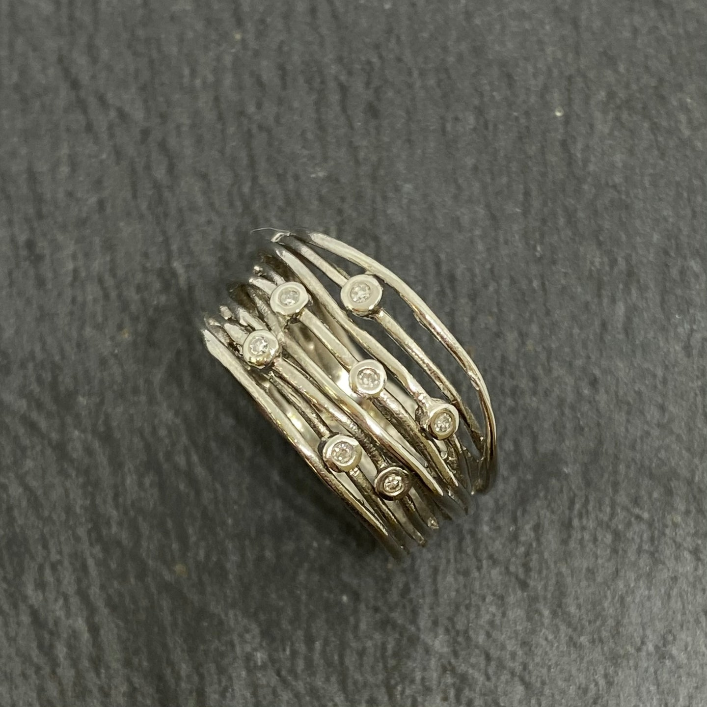 Platinum Diamond Wirework Ring