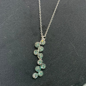 Cubic Zirconia And Sterling Silver Bubble Shaped necklace.