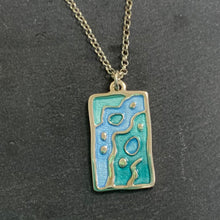 Load image into Gallery viewer, Sterling Silver Necklace With Blue Details