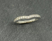 Load image into Gallery viewer, 18ct White Gold Wishbone Shaped Diamond Eternity Ring