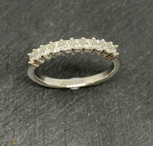 Load image into Gallery viewer, 18ct White Gold Princess Cut Diamond Eternity Ring 0.75ct