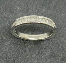 Load image into Gallery viewer, Platinum Baguette Cut Diamond Eternity Ring