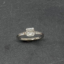 Load image into Gallery viewer, Platinum Cushion Cut Diamond Ring
