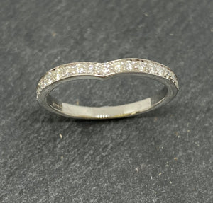 18ct White Gold Wishbone Shaped Diamond Eternity Ring