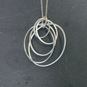 Sterling Silver Hoop Necklace