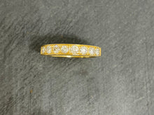 Load image into Gallery viewer, 18ct Yellow Gold Grain Set Diamond Eternity Ring 0.56ct