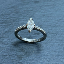Load image into Gallery viewer, Platinum Marquise Diamond Ring 0.54ct