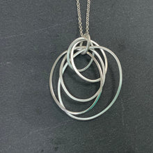 Load image into Gallery viewer, Sterling Silver Hoop Necklace