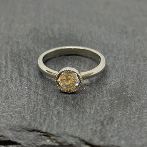 Platinum Single Stone Diamond Ring 0.51ct