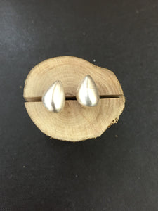 Sterling Silver Pear Shaped Studs