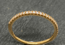 Load image into Gallery viewer, 18ct Rose Gold Claw Set Diamond Half Eternity Ring 0.10ct