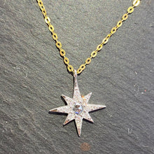 Load image into Gallery viewer, 18ct Rose Cut Diamond Star Necklace
