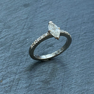 Platinum Marquise Diamond Ring 0.54ct