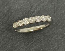 Load image into Gallery viewer, Platinum Rubover Set Diamond Eternity Ring 0.20ct