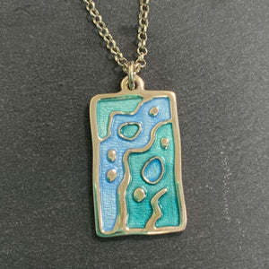 Sterling Silver Necklace With Blue Details