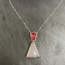 Load image into Gallery viewer, Stunning Opal & Spinel Pendant Set In Platinum