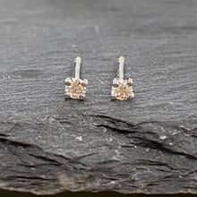 Load image into Gallery viewer, 18ct White Gold Claw Set Diamond Studs 0.12ct