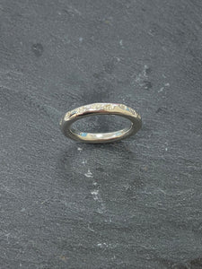 Handmade by James Bishop Sterling Silver Heart Stamped Ring
