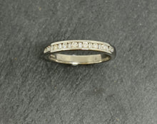 Load image into Gallery viewer, 18ct White Gold Baguette & Round Brilliant Cut Diamond Eternity Ring