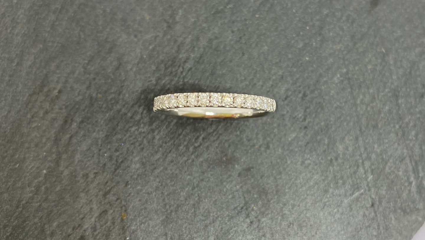 18ct White Gold Diamond Claw Set Eternity Ring