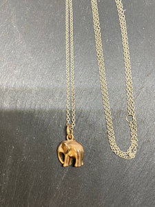 9ct Rose Gold Elephant Pendant Necklace