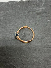 Load image into Gallery viewer, 9ct Rose Gold Aquamarine and Diamond Ring