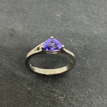 Load image into Gallery viewer, Handmade Sapphire And Diamond Ring In Platinum