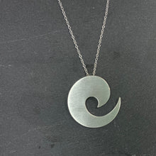 Load image into Gallery viewer, Sterling Silver Wave Pendant