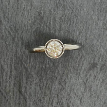 Load image into Gallery viewer, Platinum Single Stone Diamond Ring 0.51ct