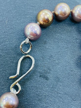 Load image into Gallery viewer, Natural Bronze 9-10mm Pearl Necklace