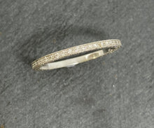 Load image into Gallery viewer, 18ct White Gold Grain Set Full Diamond Eternity Ring